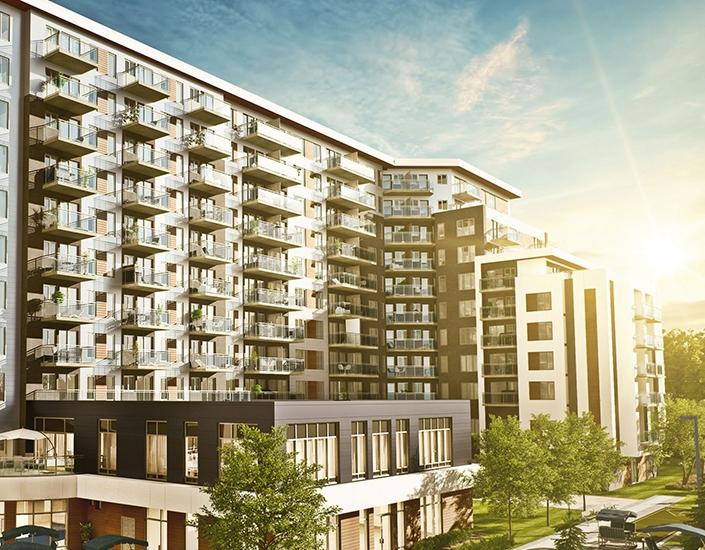 Plans et devis pour l'aménagement des 198 unités de location et de 49 condos du nouveau complexe Teasdale, résidence pour retraités